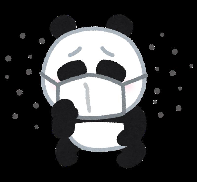 咳をするパンダの画像